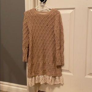 Max Studio- Girls 6x sweater dress
